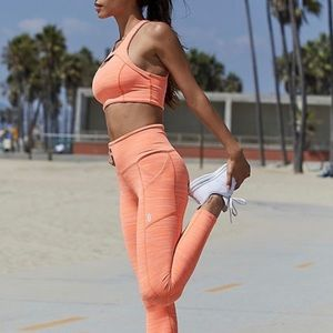 Free People Movement Roll Out Legging Neon Mango